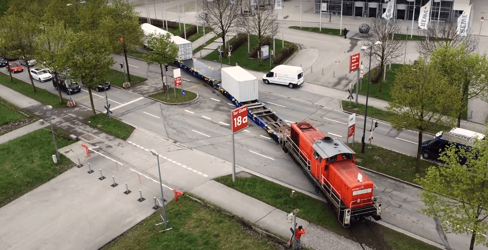 Reportage - transport logistic 2017 - Flugaufnahme